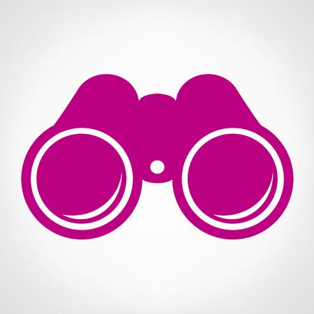 shinny: Binoculars. Single shinny binoculars icon illustration.