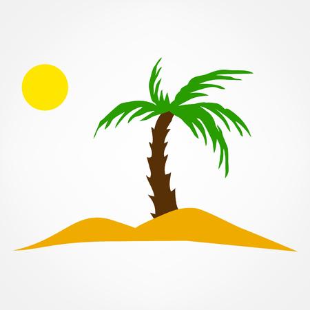 oasi illustrazione simbolo. viaggio icona. Vettoriali