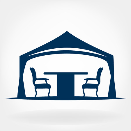 outdoor event: wedding or entertainment tent logo