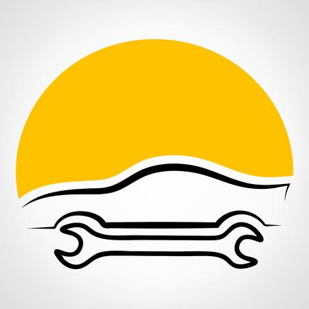 auto repair: Auto repair logo. Vector illustration. Illustration