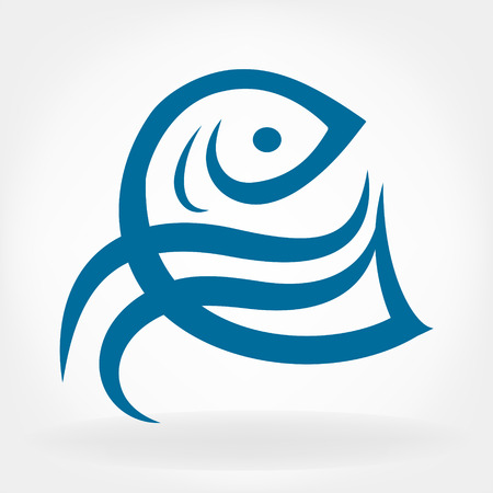 logo poisson: logo vecteur de poisson