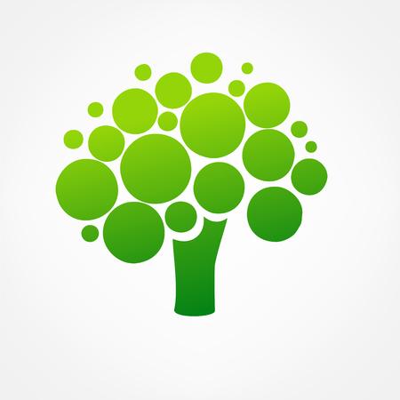 tree logo: green tree logo vector Illustration