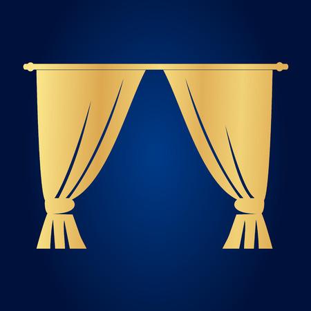portiere: Curtains  . Vector illustration. Illustration