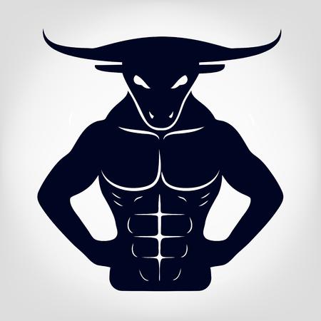 raging bull: Minotaur  vector