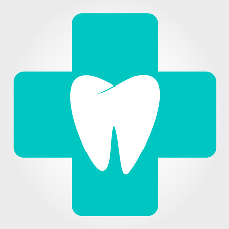 dental prophylaxis: tooth logo. vector illustration.