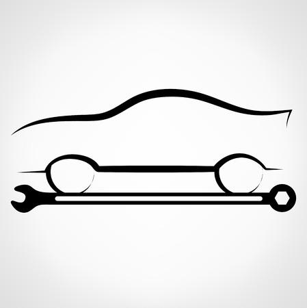 auto repair: Auto repair logo. Vector illustration