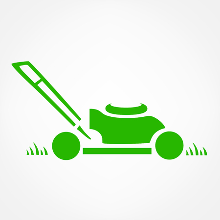 잔디 깎는 로고 벡터 일러스트