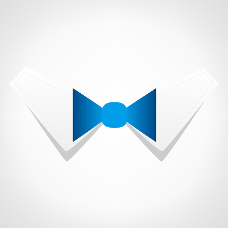 educated: Bow tie . Business symbol. Illustration