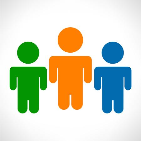 integral: People illustration.