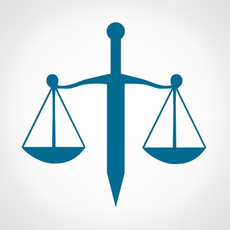 justice scale: Scale of justice symbol