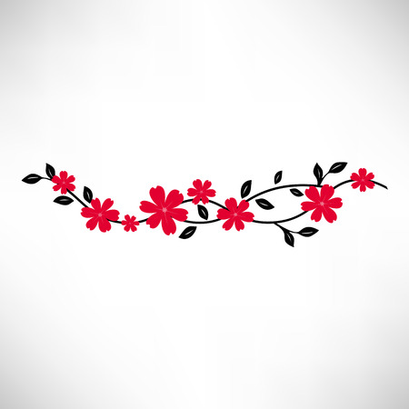 sakura flowers: Sakura branch vector