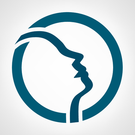 male face: face silhouette Illustration