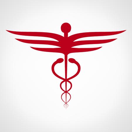 medicaid: Caduceus medical symbol. Emblem for drugstore or medicine.