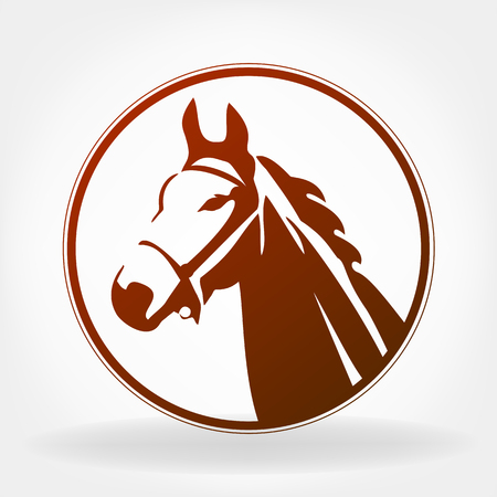 Horse  . Vector illustration. Çizim