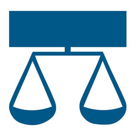 scale of justice: Scale of justice symbol vector Illustration