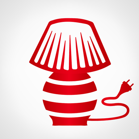 lampshade: red table lamp logo Illustration