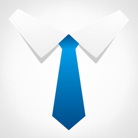solemn: Tie vector. Business symbol.