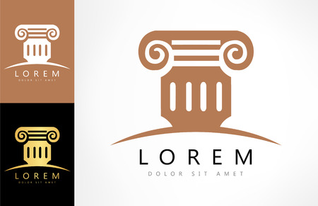 lawfulness: Architecture - vector concept. Antique column abstract sign Illustration