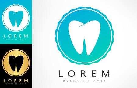 preening: tooth . vector illustration.