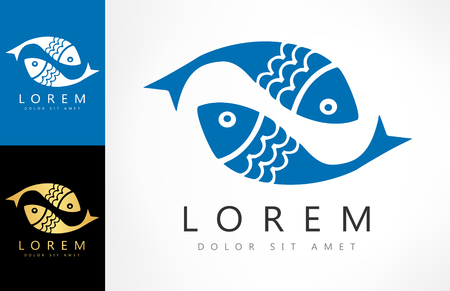 salmon leaping: Fish  vector