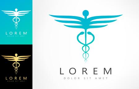 emblem for drugstore or medicine: Caduceus medical  . Emblem for drugstore or medicine.