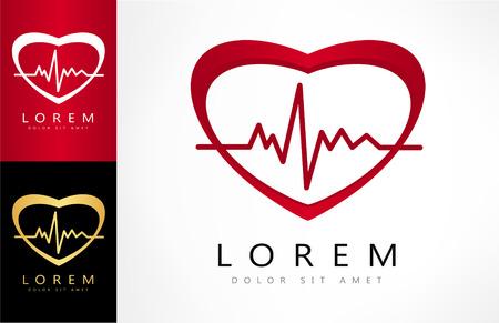 cardioid: Heartbeat sign - vector