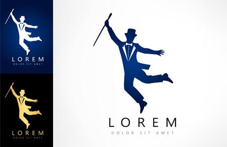 the showman: showman silhouette logo