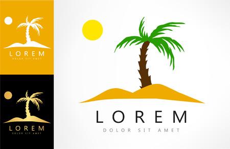 oasis: Tropical logo Illustration