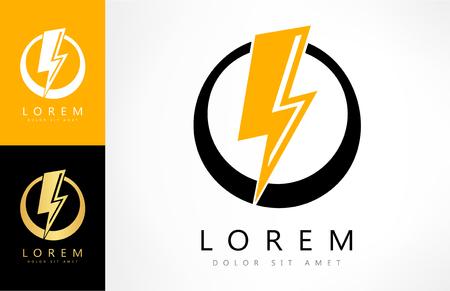 identity card: Lightning bolt logo