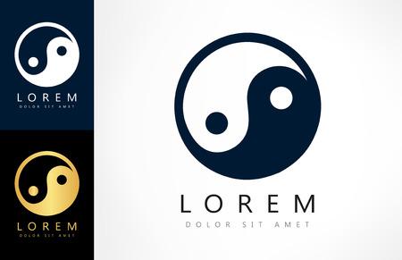 yinyang: yin yang logo Illustration