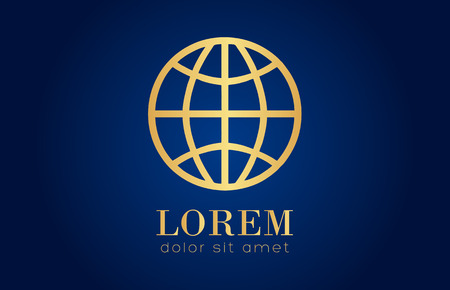 golden globe: Golden globe logo Illustration