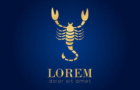kalahari desert: Scorpion vector logo Illustration