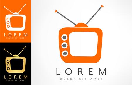 cartoons television: Tv symbol vector illustration