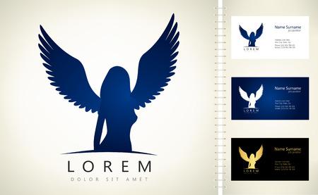 Simbolo della donna angelo Illustrazione vettoriale