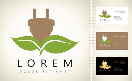 green power: Eco Electricity logo. Green power.