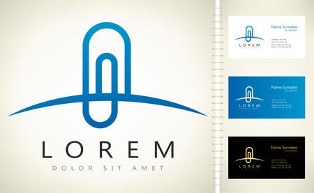 paper clip: paper clip logo vector