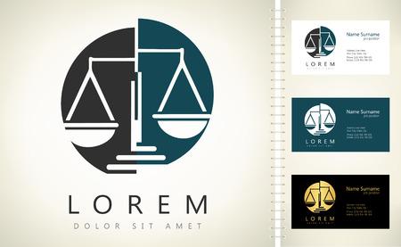 Scale of justice logo Stock Illustratie