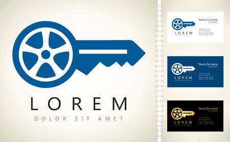 Car keys vector. Car logo. Stock Illustratie
