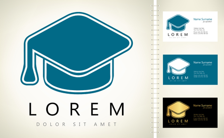 trencher: Graduation hat logo Illustration
