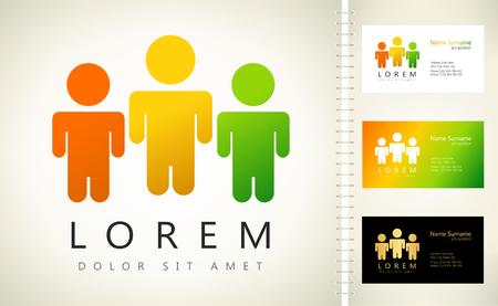 People logo. Vector illustration.