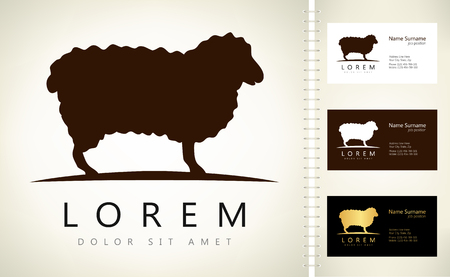 bleating: Sheep logo. Lamb vector. Illustration