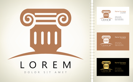 lawfulness: Architecture - vector logo concept. Antique column abstract sign