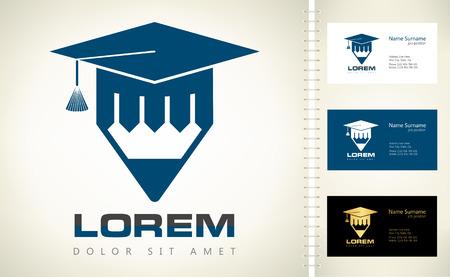 Graduation hat logo Illustration