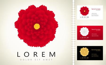 Abstract flower - vector logo Illustration