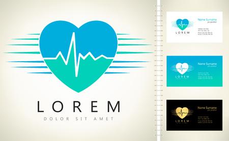 cardioid: El latido del corazón signo - vector logo Vectores