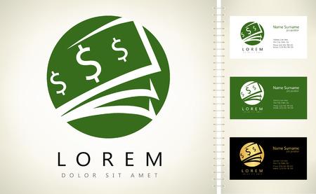 hoard: Money logo vector