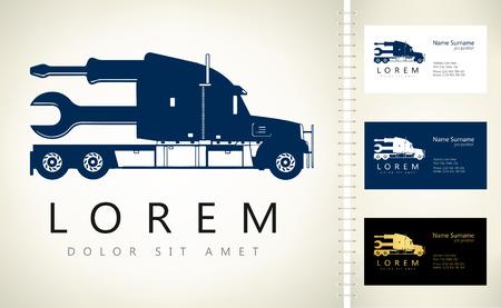 truck logo Ilustracja