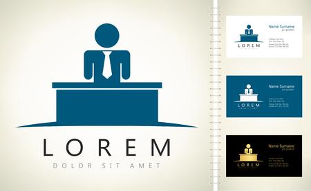 Men logo. Vector illustration.