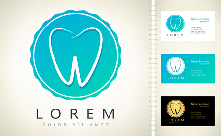 tooth logo. vector illustration.