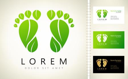 Footprint vector logo
